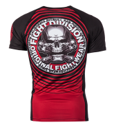 Pit Bull CIRCLE RED rashguard short
