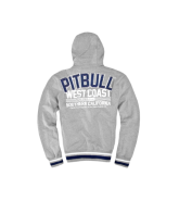 Pit Bull EAST VILLAGE Zip Hooded bluza szara