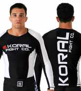 Koral Plus Competition Rash Guard L/S biały