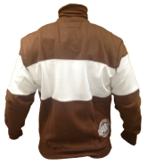 Pit Bull Sweatjacket Stripe Brown/Natural XXL