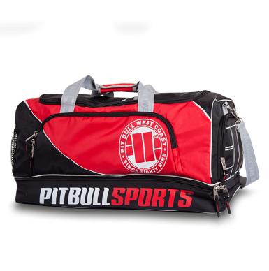 470310137e2b Pit Bull PBSPORTS torba treningowa czarno-czerwona