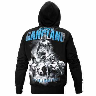 Pit Bull WELCOME TO GANGLAND bluza z kapturem czarna