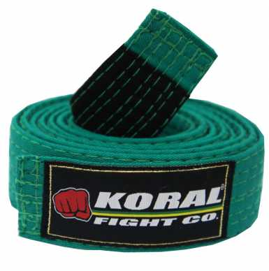Koral KIDS BELT BJJ pas zielony
