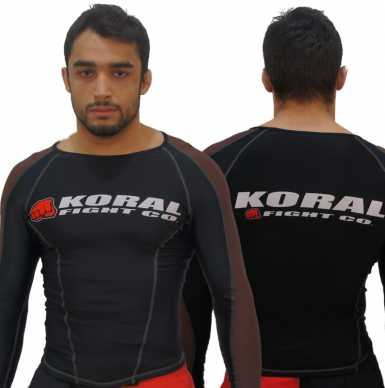 Koral Rash Guard L/S Competition Brown Belt