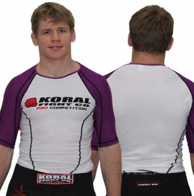 Koral Rash Guard S/S Pro Competition Purple Belt