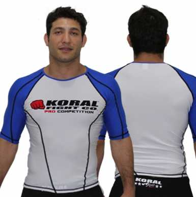 Koral Rash Guard S/S Pro Competition Blue Belt